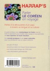 Parler le coréen en voyage (édition 2011) - 4ème de couverture - Format classique