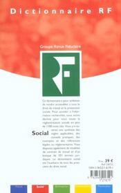 Dictionnaire Social 2002 ; 21e Edition - 4ème de couverture - Format classique
