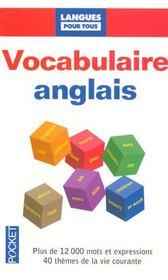 Vocabulaire anglais - Intérieur - Format classique