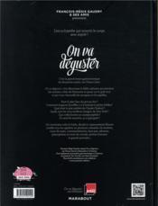 On va déguster ; un inventaire croustillant, de Auguste Escoffier... à la Carbonara - 4ème de couverture - Format classique