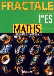 Mathématiques, 1re ES. - Couverture - Format classique