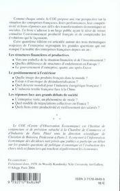 Les entreprises francaises 2004 ; le defi exterieur - 4ème de couverture - Format classique