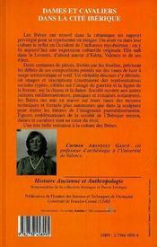 Dames Et Cavaliers Dans La Cite Iberique - 4ème de couverture - Format classique