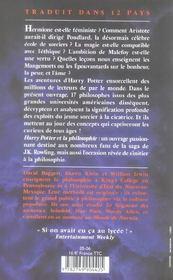 Harry Potter et la philosophie ; petit traité à l'usage des moldus - 4ème de couverture - Format classique