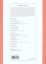 Meres Et Filles ; Vouivre N.10 - 4ème de couverture - Format classique