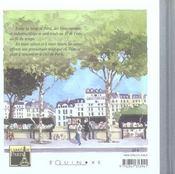 Paris les quais de seine - 4ème de couverture - Format classique
