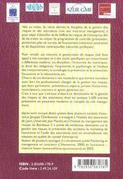 Dictionnaire de la gestion des risques et des assurances fr/angl+index angl/fr - 4ème de couverture - Format classique