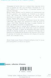 Enquêtes sur l'identité de la nation France - 4ème de couverture - Format classique