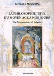 La philosophie juive du moyen age a nos jours - Couverture - Format classique