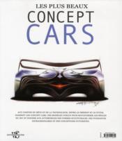 Les plus beaux concept cars ; de 1930 à aujourd'hui - 4ème de couverture - Format classique