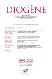 Revue Diogene N.229 ; 230 ; Les Sciences Humaines Aujourd'Hui - Couverture - Format classique