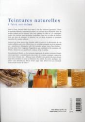 Teintures naturelles à faire soi-même - 4ème de couverture - Format classique