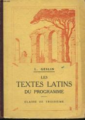 Les Textes Latins Du Programme. Classe De Troisieme. - Couverture - Format classique