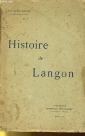 Histoire De Langon - Couverture - Format classique