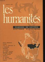Les Humanites N°361 - Classes De Lettres - Sections Classiques - Couverture - Format classique