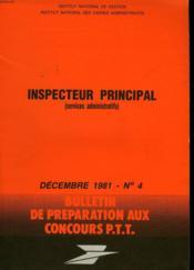 Bulletins De Preparation Aux Concours P.T.T N°4 - Couverture - Format classique