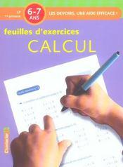Feuilles d'exercices ; calcul - Intérieur - Format classique