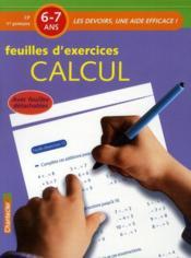 Feuilles d'exercices ; calcul - Couverture - Format classique