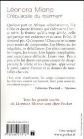 Crépuscule du tourment T.1 - 4ème de couverture - Format classique