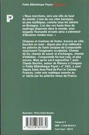 Le grand chemin de Compostelle - 4ème de couverture - Format classique