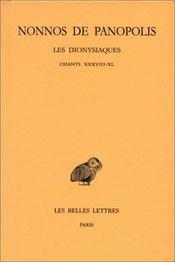 Les dionysiaques t.14 ; chants 38-40 - Intérieur - Format classique