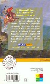 Le second livre des merveilles - 4ème de couverture - Format classique