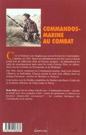Commandos-Marine Au Combat - 4ème de couverture - Format classique