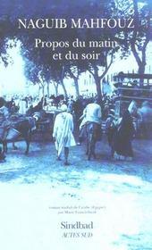 Propos Du Matin Et Du Soir - Intérieur - Format classique
