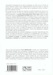 Enseigner L'Acrosport En Milieu Scolaire, Au Club - 4ème de couverture - Format classique