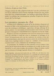 Les Premiers Paysans Du Midi ; De -6000 A -4500 Ans - 4ème de couverture - Format classique