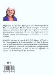 Pratique De Graphologie - 4ème de couverture - Format classique