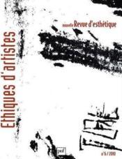 NOUVELLE REVUE D'ESTHETIQUE N.6 ; éthiques d'artistes - Couverture - Format classique