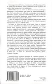 Anthologie de la poésie amoureuse française ; des trouvères à Apollinaire - 4ème de couverture - Format classique