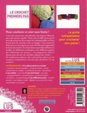 Le crochet, premier pas - 4ème de couverture - Format classique