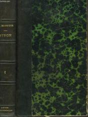 Byron. Tome I. - Couverture - Format classique