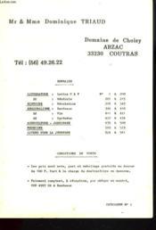 Catalogue N°1. Litterature / Histoire / Regionalisme / Agriculture-Jardinage / Medecine / Livres Pour La Jeunesse. - Couverture - Format classique