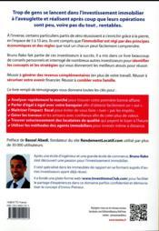 107 principes immobiliers pour investir comme un pro et s'enrichir avec la pierre - 4ème de couverture - Format classique
