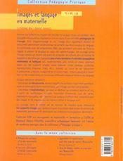 Images et langage en maternelle ; PS/MS/GS - 4ème de couverture - Format classique