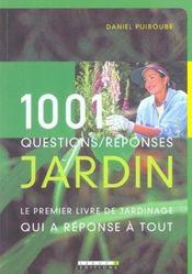1001 Questions / Reponses Jardin - Intérieur - Format classique