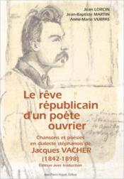 R ve r publicain d'un poete ouvrier - Couverture - Format classique