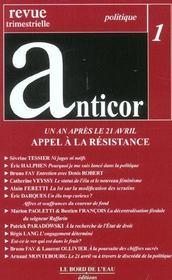 Anticor - Intérieur - Format classique