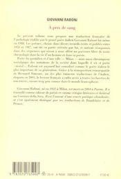 A prix de sang - poemes 1953-1987 - 4ème de couverture - Format classique