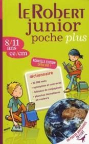 Dictionnaire Le Robert junior poche plus 8/11 ans - Couverture - Format classique