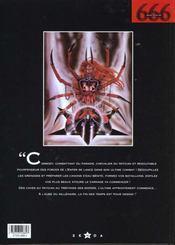 666 t.6 ; missa dicta est - 4ème de couverture - Format classique