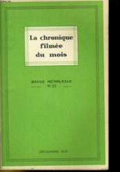 La Chronique Filmee Du Mois N°22 - Couverture - Format classique