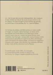 Plateau - 4ème de couverture - Format classique