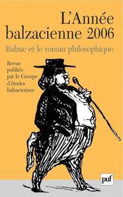 REVUE L'ANNEE BALZACIENNE N.7 ; Balzac et le roman philosophique (édition 2006) - Intérieur - Format classique