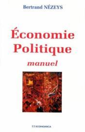 Économie politique ; manuel - Couverture - Format classique