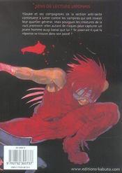 BLOODSUCKER T.2 ; le messager du yato - 4ème de couverture - Format classique