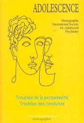 Revue Adolescence ; Spécial Ipsa ; Troubles De La Personnalité - Intérieur - Format classique